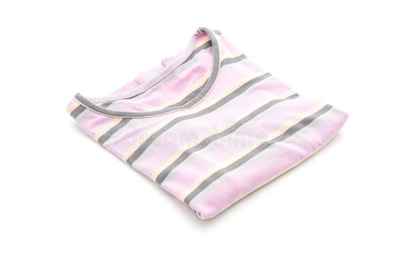 Fold t-shirt. On white background royalty free stock photo