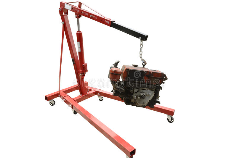 Foldable Engine Crane stock photography