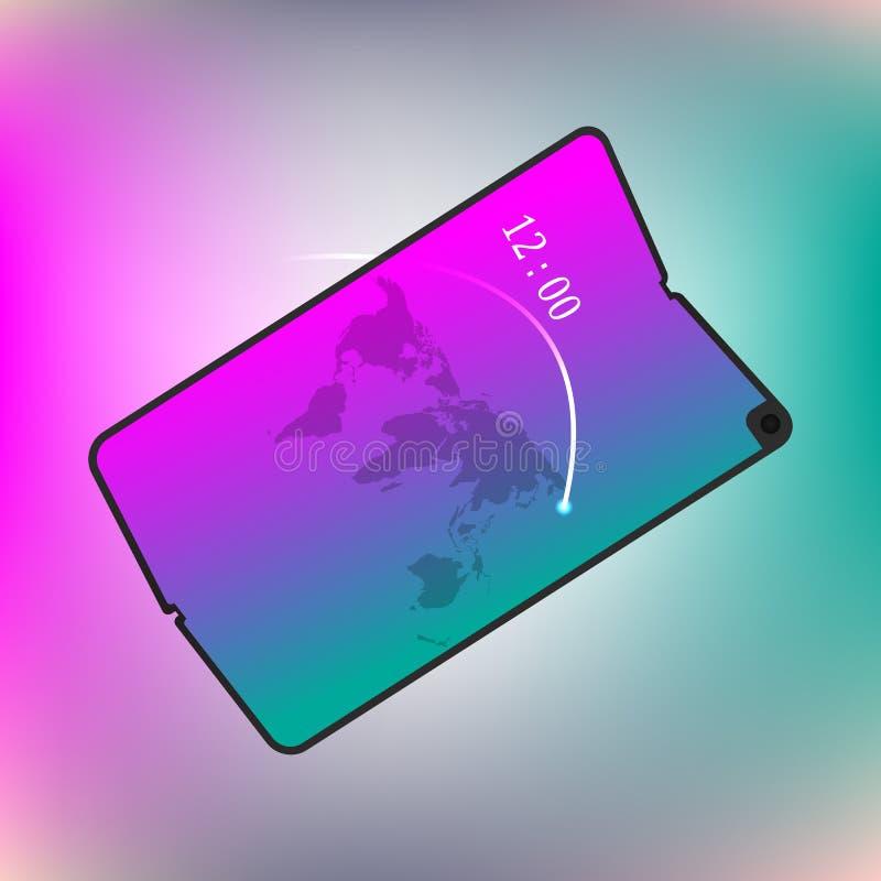 Foldable screen smartphone. New concept. vector design illustration.  stock illustration