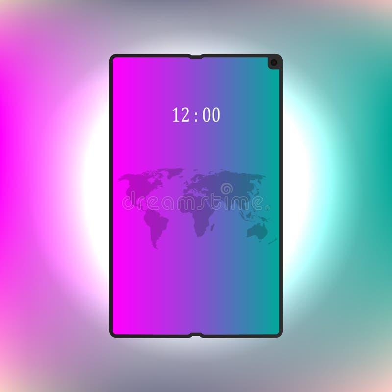 Foldable screen smartphone. New concept. vector design illustration.  royalty free illustration