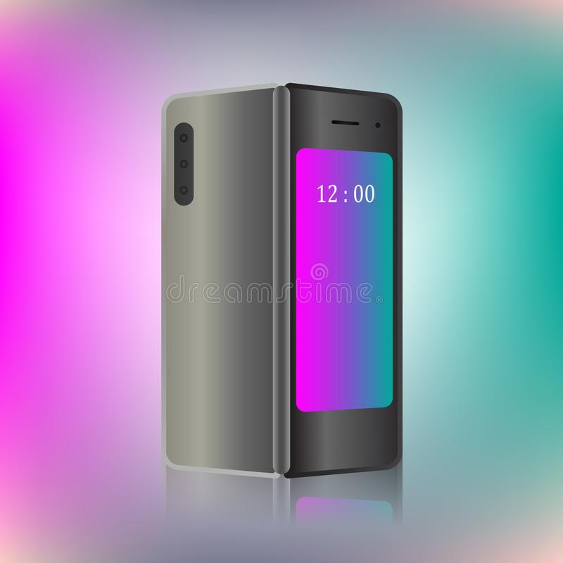 Foldable screen smartphone. New concept. vector design illustration.  vector illustration