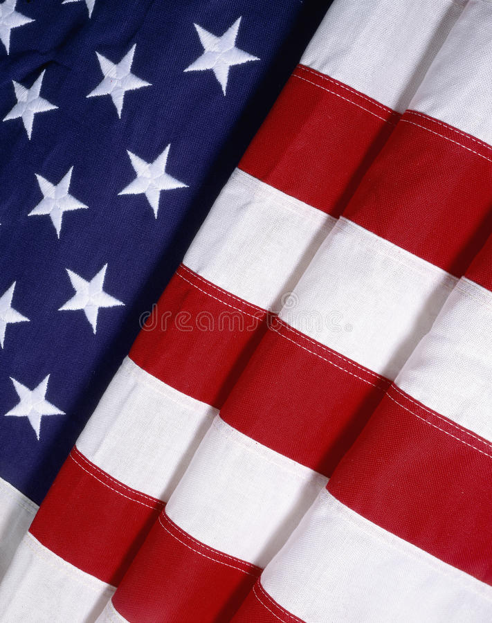 Folded American Flag. Close-up of folded American flag stock photos