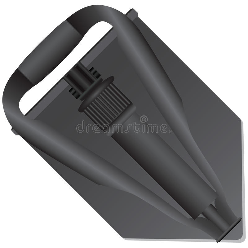 Download Folded army shovel stock vector. Image of unearth, sprinkle - 33528425