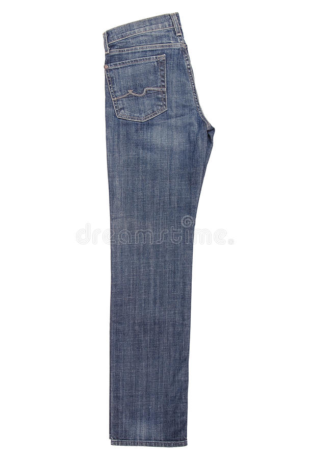Folded blue jeans royalty free stock photo