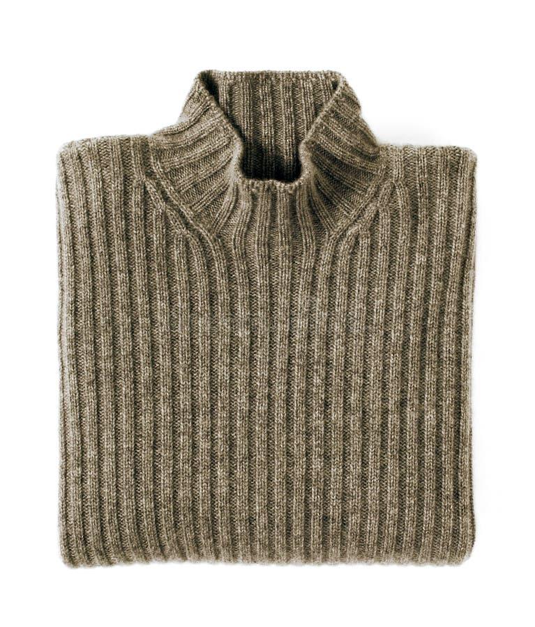 Folded Cashmere Turtle Neck Sweater stock photography