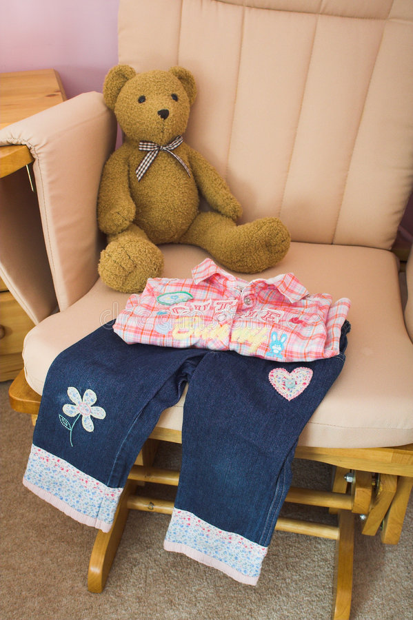 Folded Childrens Clothes Royalty Free Stock Photo