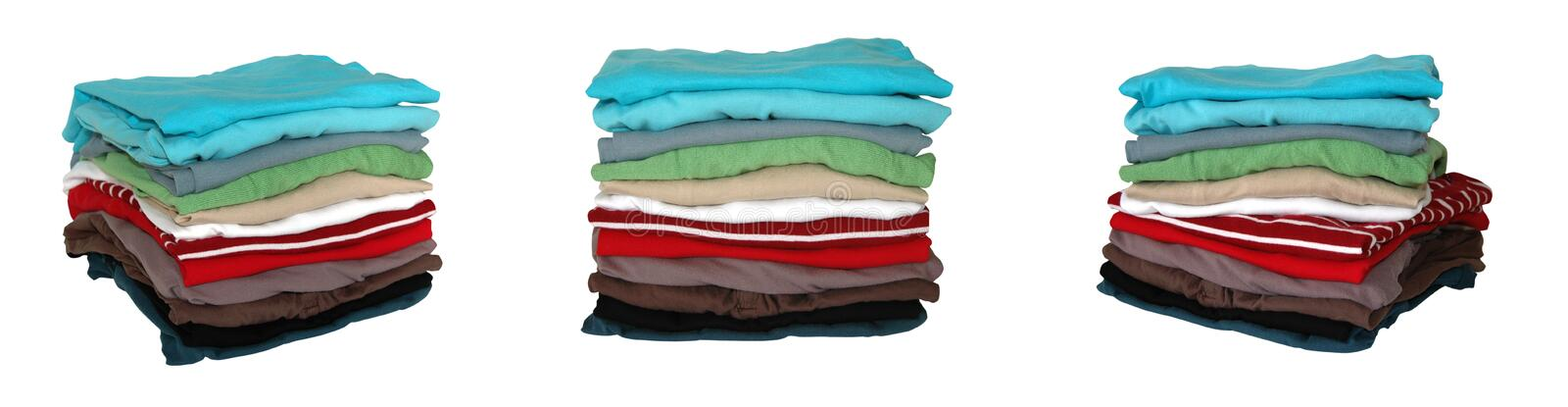 Folded Clothes Stock Image