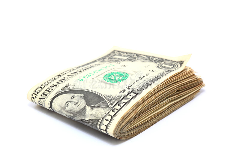 Download Folded dollars stock image. Image of rich, american, used - 7613341