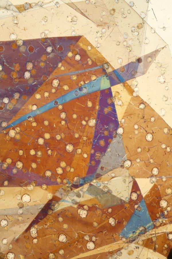 Folded foil in polarized light stock image