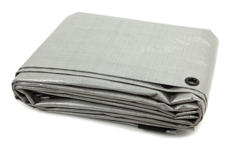 Folded Gray Tarp royalty free stock images