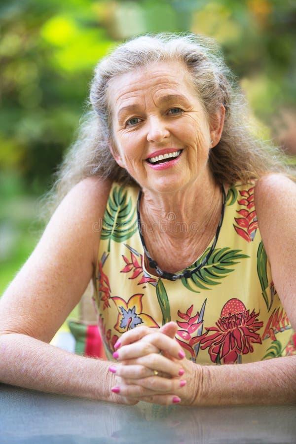folded hands smiling woman στοκ φωτογραφίες