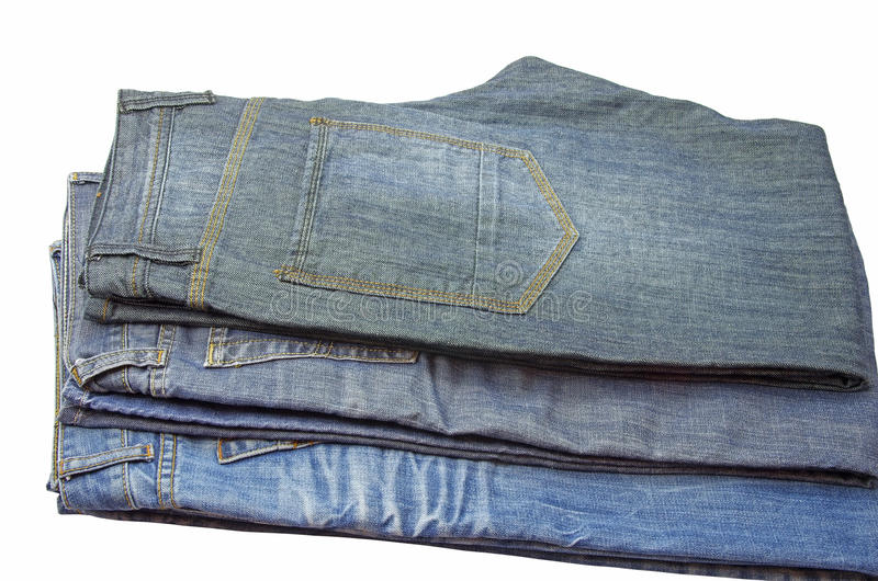 Folded Jeans Stock Photography