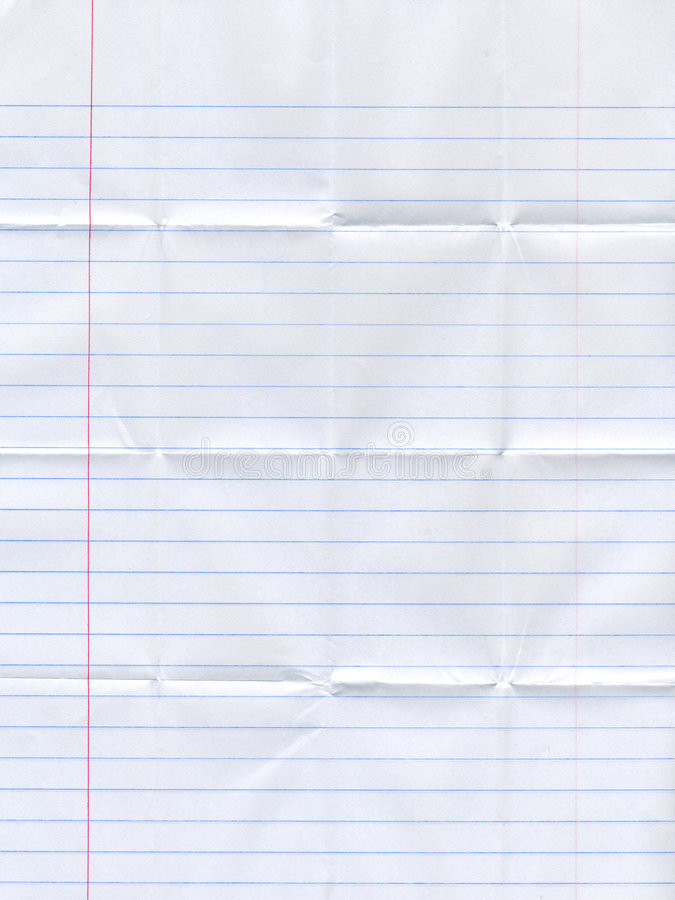 Folded lined paper stock images