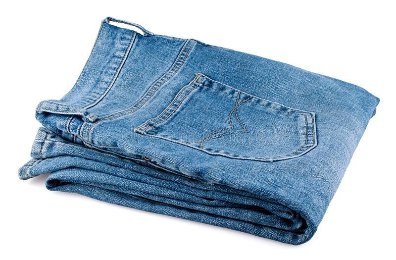Folded men's jeans stock photo. Image of jeans, textile ...