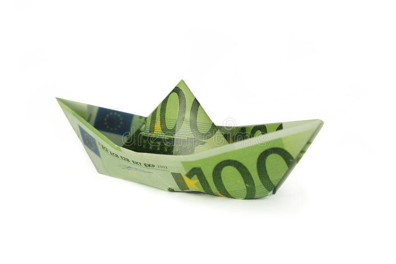 Folded Money Boat stock images