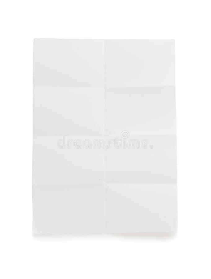 Download Folded Note Paper  On White Stock Photo - Image of school, border: 39503732