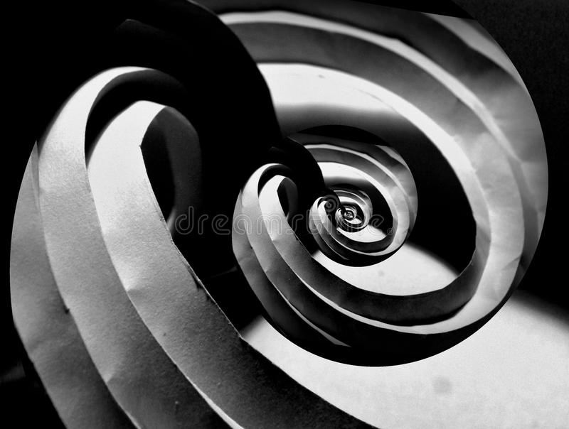 Folded origami paper curves royalty free stock images