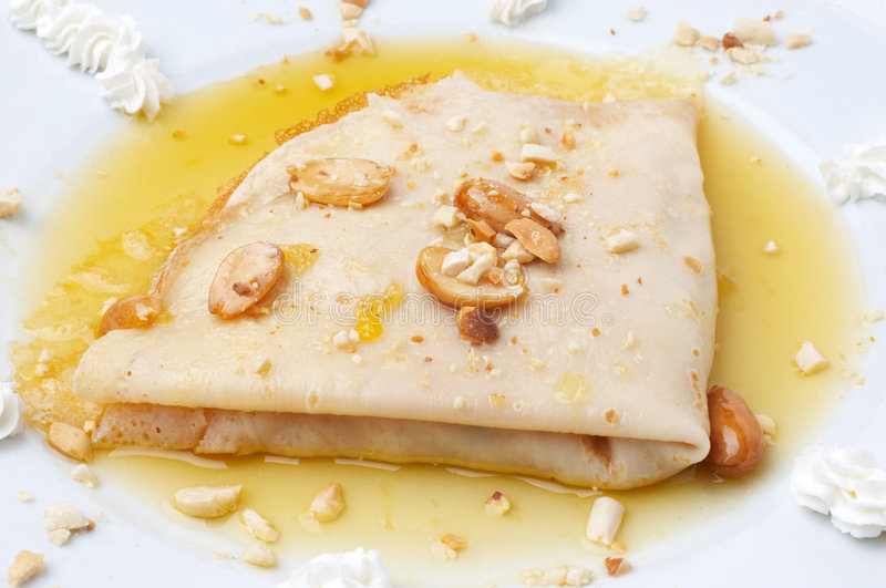 Download Folded pancake stock photo. Image of carbohydrates, yellow - 4117612