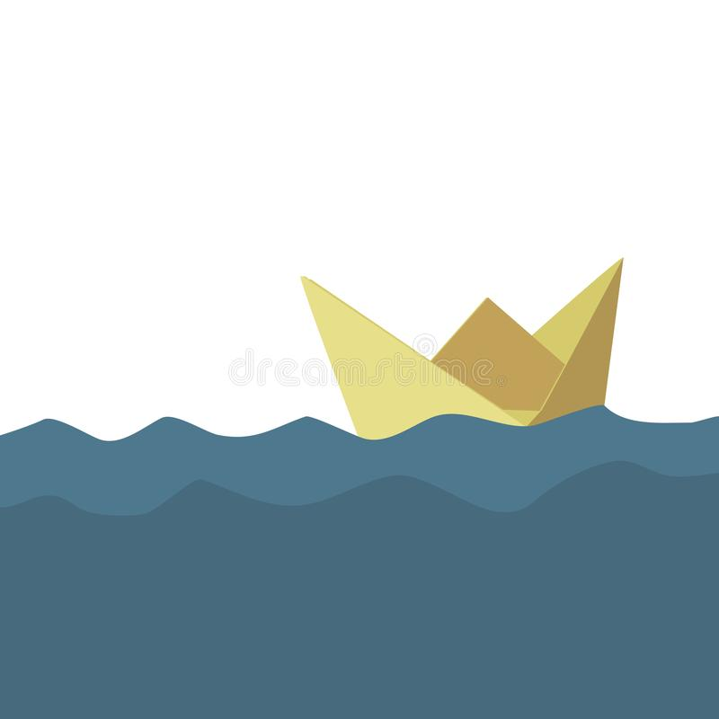 Folded paper boat royalty free stock photos