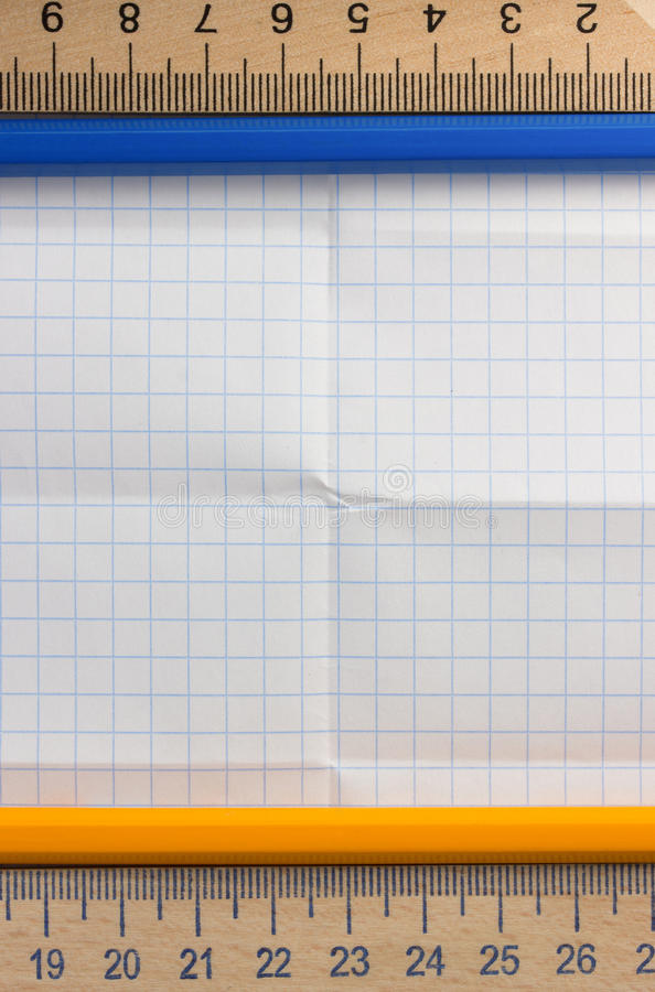 Download Folded  paper stock photo. Image of blue, notice, checked - 39503768