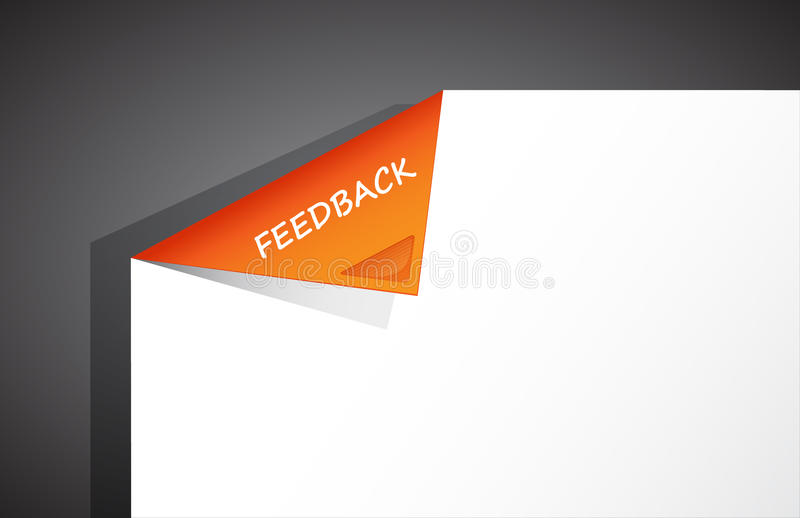 Download Folded Paper In The Corner With Feedback Text. Stock Vector - Image: 23406493