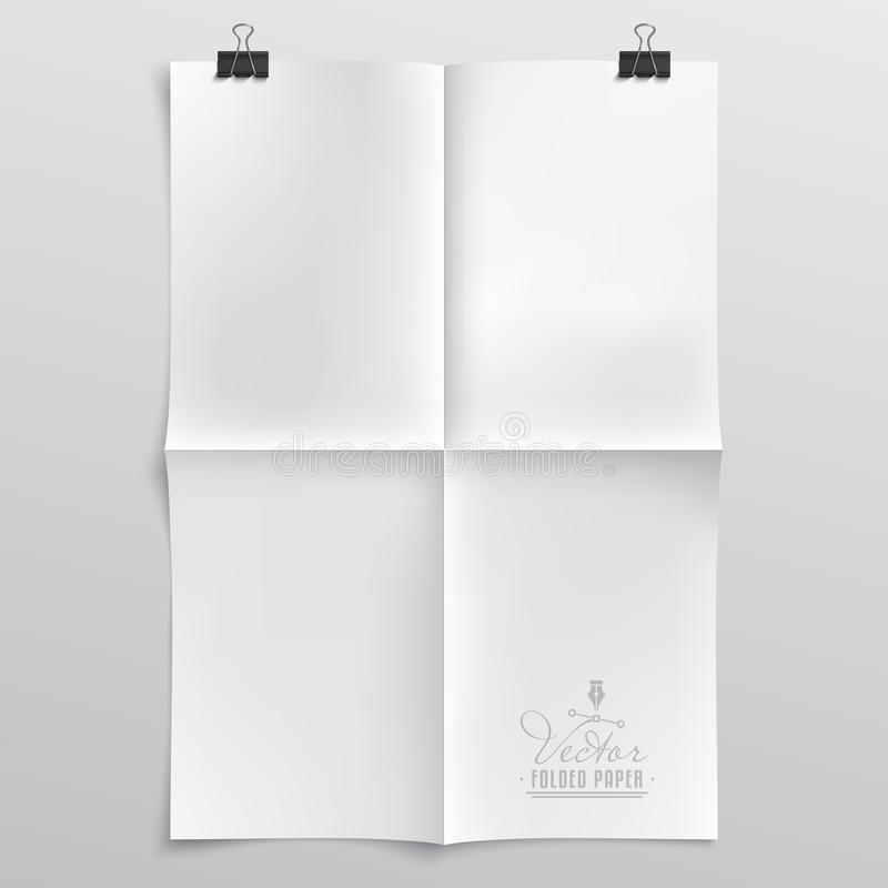Folded Paper Template royalty free illustration
