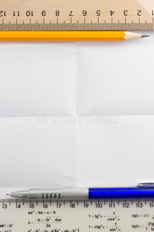 Download Folded  paper stock photo. Image of torn, frame, folded - 39503744