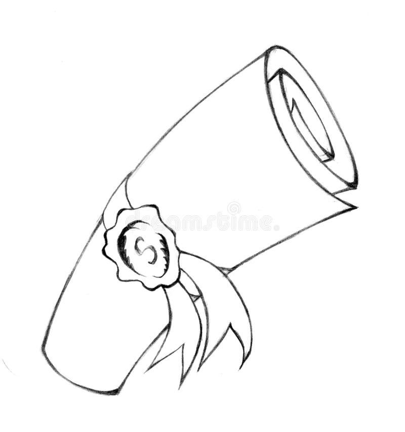 Download Folded scroll stock illustration. Image of vintage, image - 8428529