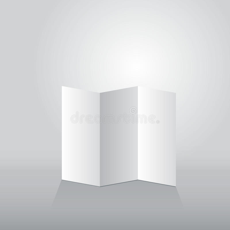 Folded sheet of paper three turn. Vector illustration royalty free illustration