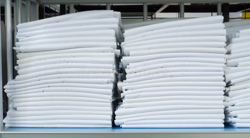 Folded sheets stock photo