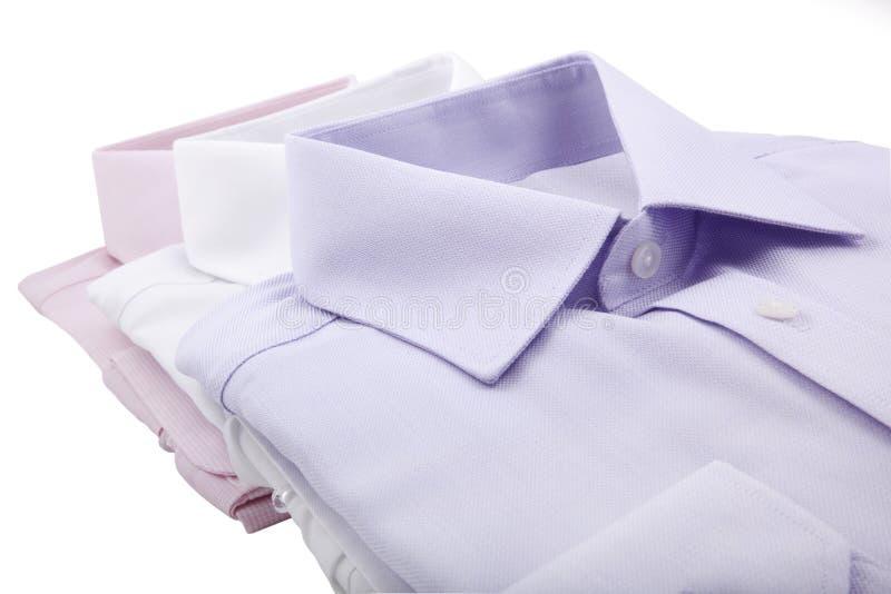 Folded shirts royalty free stock image