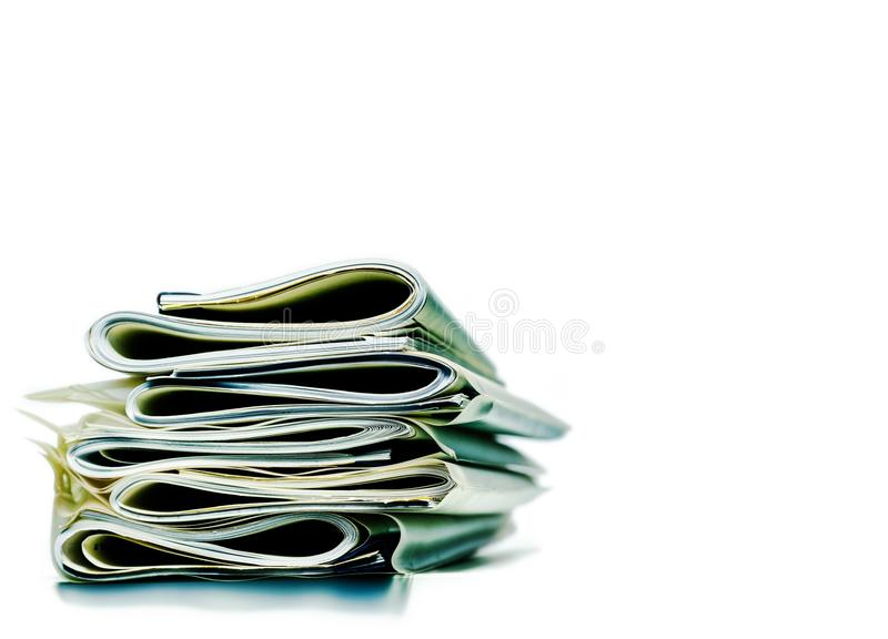 Folded stack of business, legal or insurance papers stock images