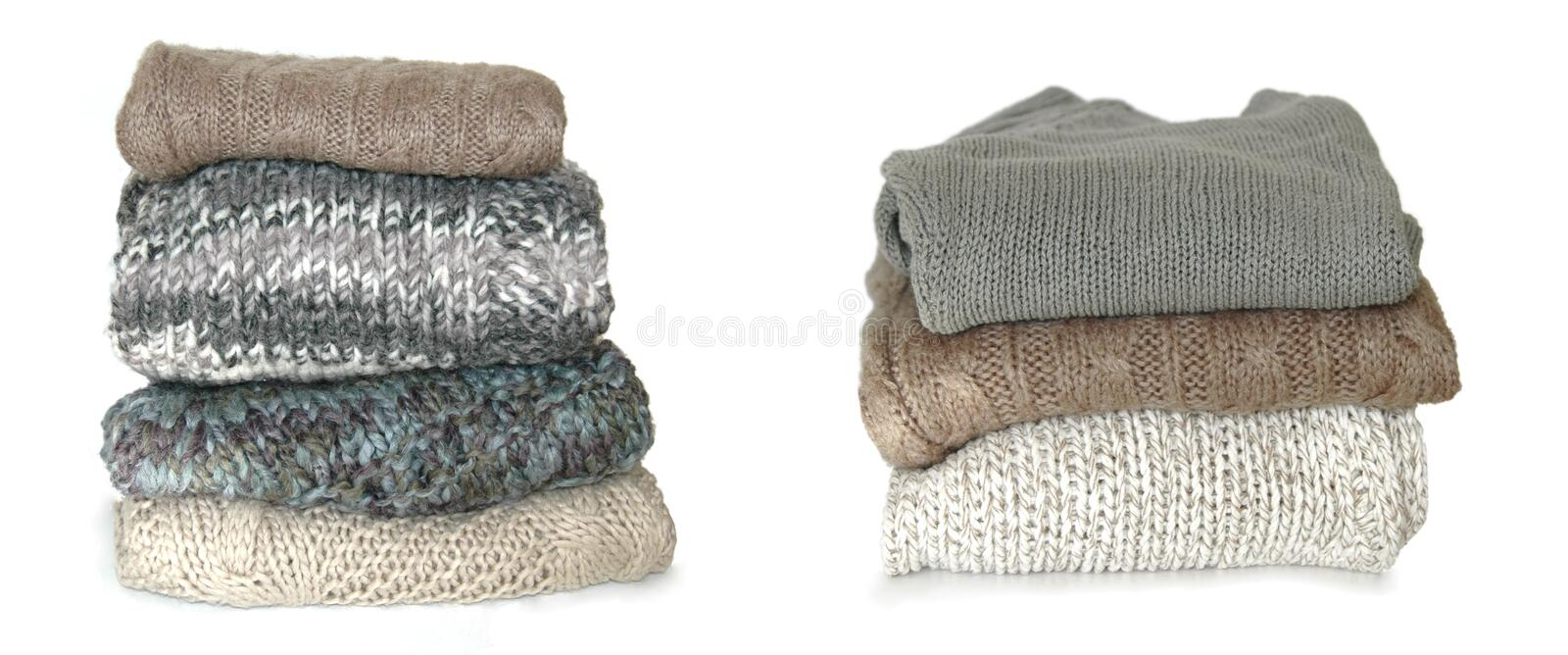 Download Folded sweaters stock photo. Image of winter, isolated - 17016284