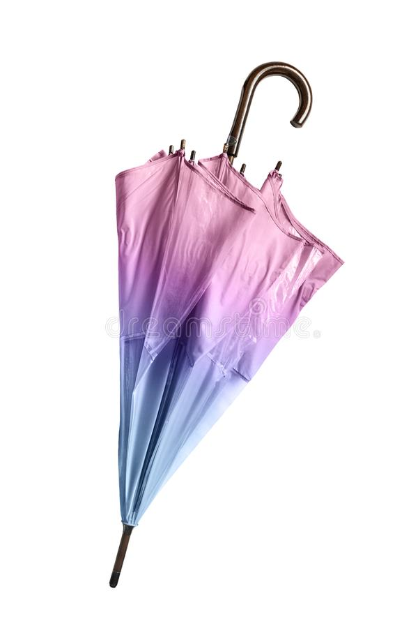 Folded umbrella isolated stock photography