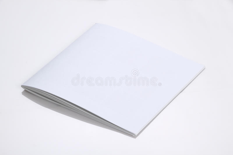 Nice Download Folded White Blank Brochure Magazine Cover For Mock Up Stock Image    Image: 64586055  Blank Brochure