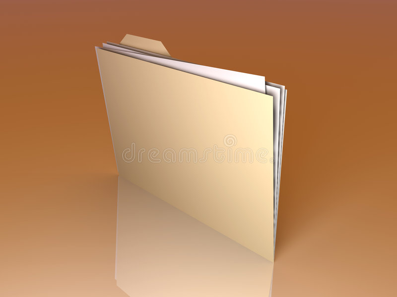 Folder royalty free illustration
