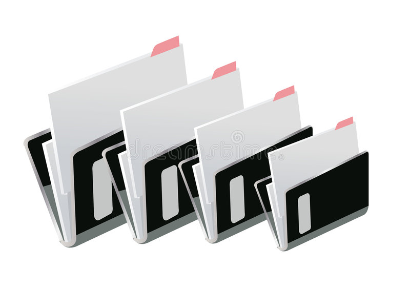 Folder stock illustration
