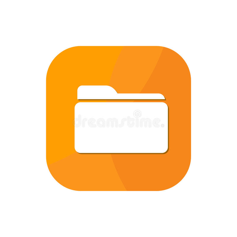 Folder App Icon royalty free illustration