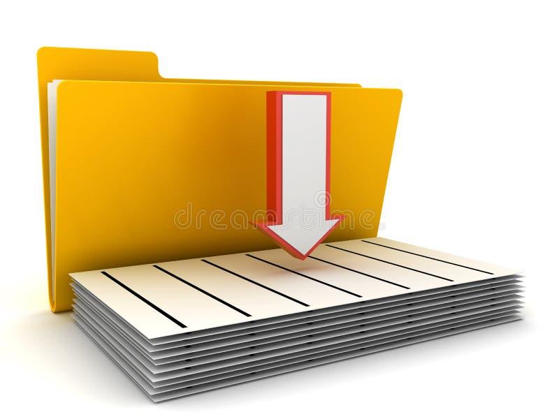 Folder and arrow royalty free illustration