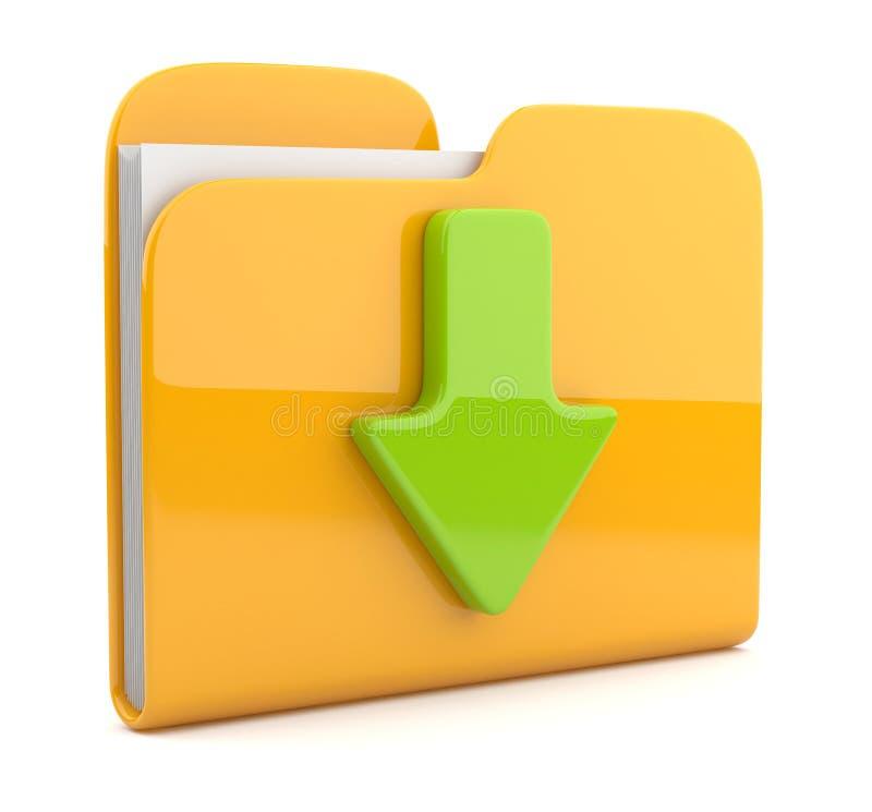 Folder and arrow. 3D icon. stock illustration