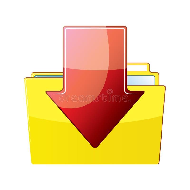Folder and arrow vector illustration