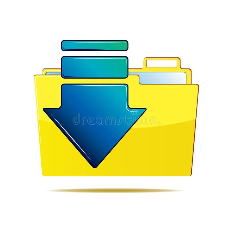Folder and arrow icon stock illustration