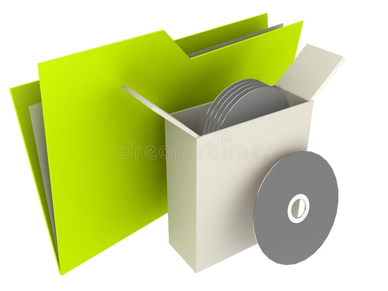 Folder Back-Up stock illustration
