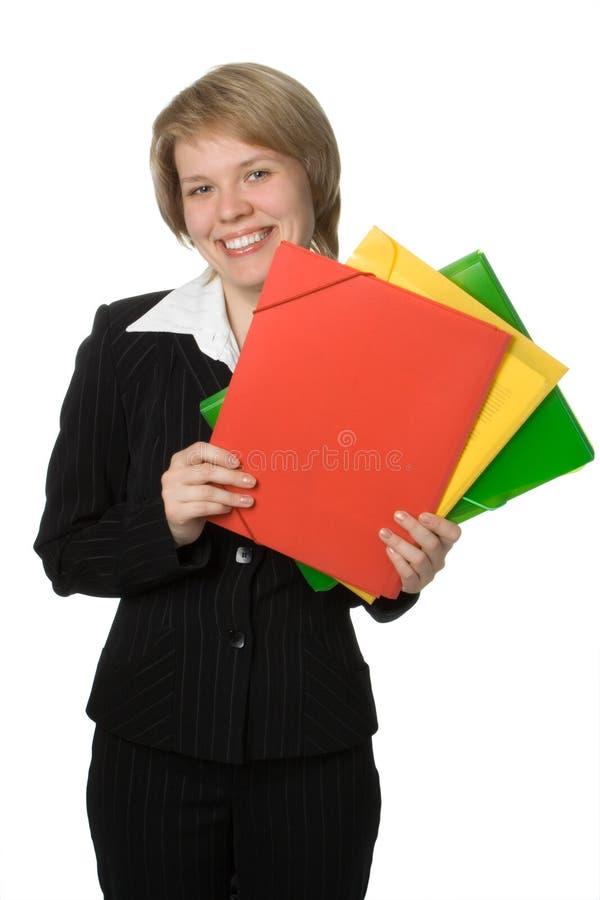 folder bizneswoman obraz stock
