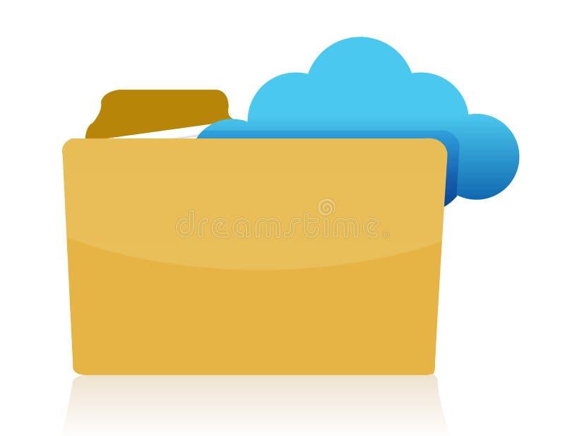 Download Folder cloud storage stock illustration. Image of symbol - 27544916