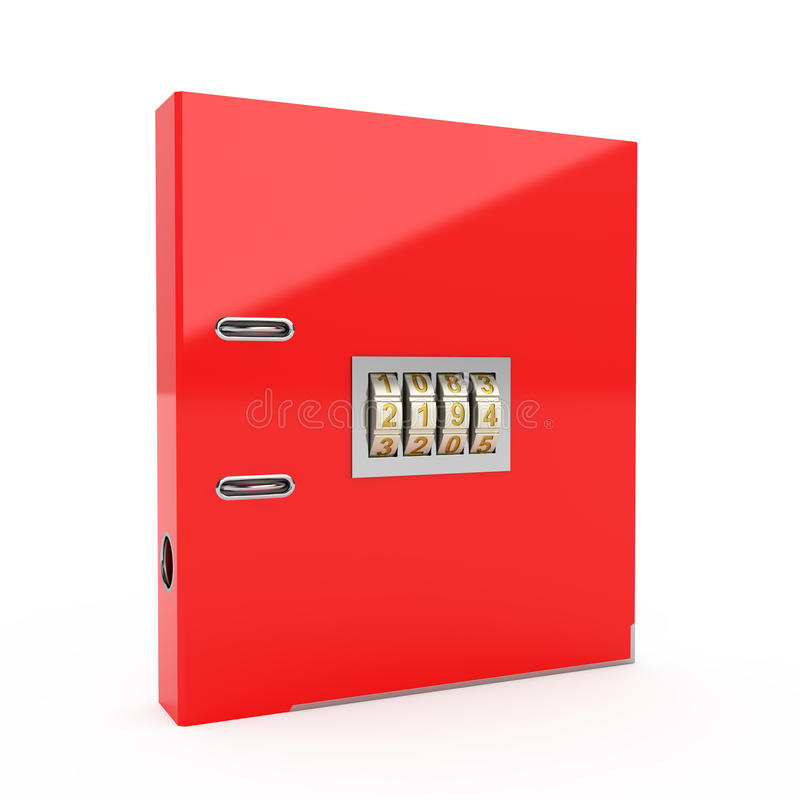 Download Folder With Combination Lock Stock Image - Image: 22494591