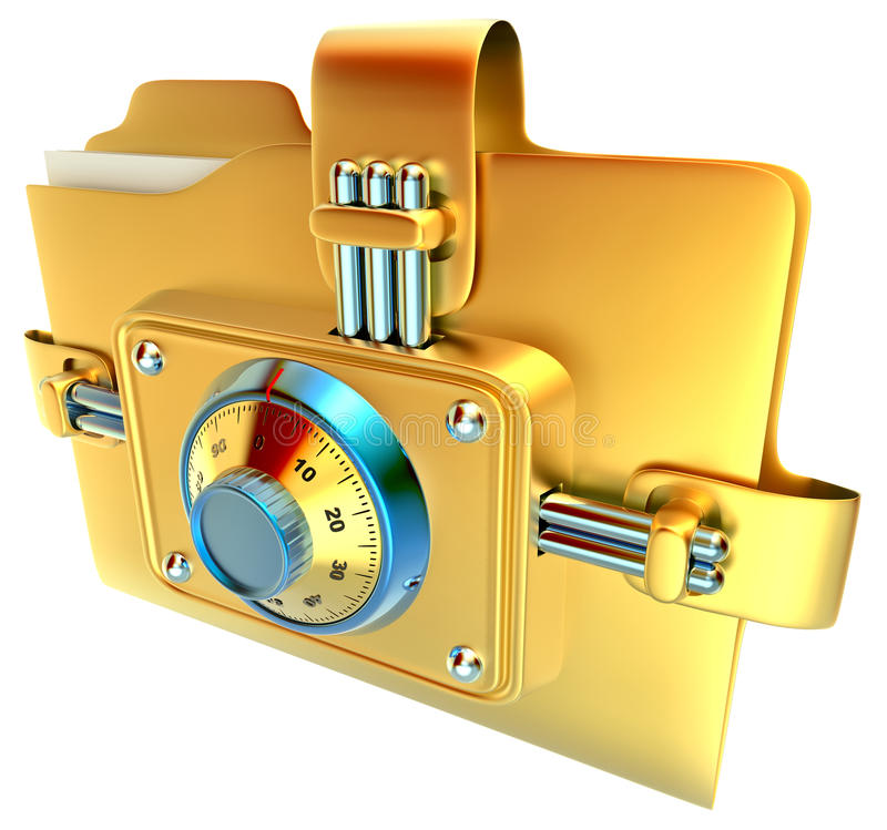 Folder With Combination Lock Royalty Free Stock Image