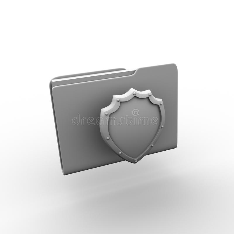Download Folder. 3d stock illustration. Image of firewall, yellow - 32926941
