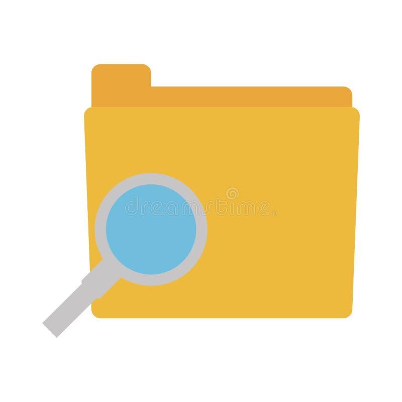 folder data search paper vector illustration