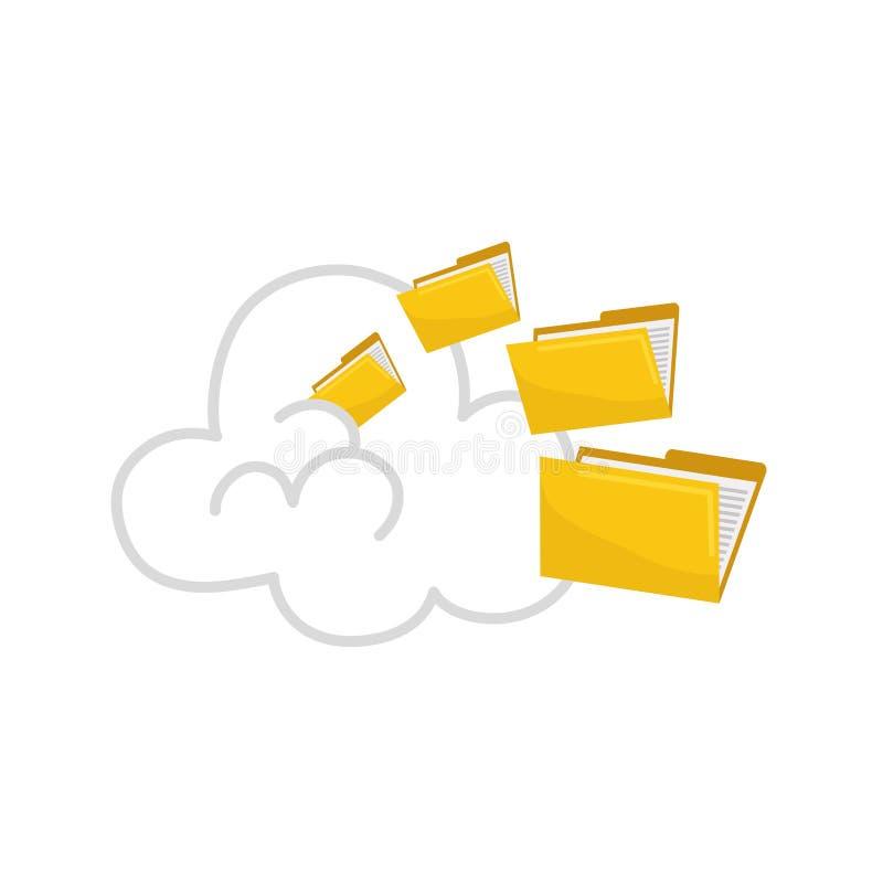 Folder data storage royalty free illustration